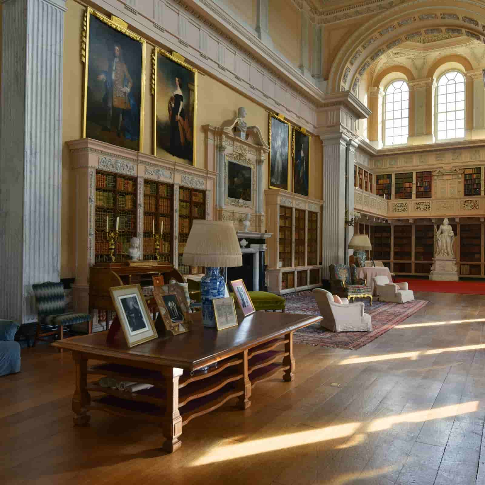 Blenheim Palace State Rooms, furnished in an 18th-century style.