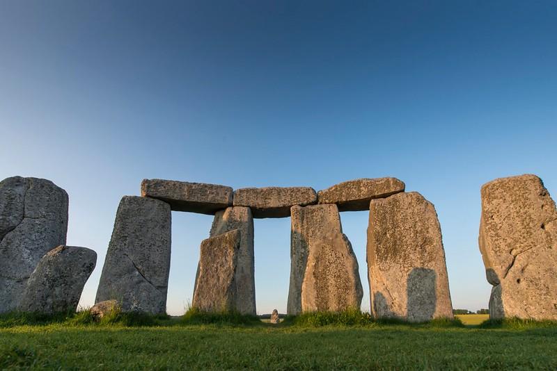 A view of the Stonehenge bluestones.