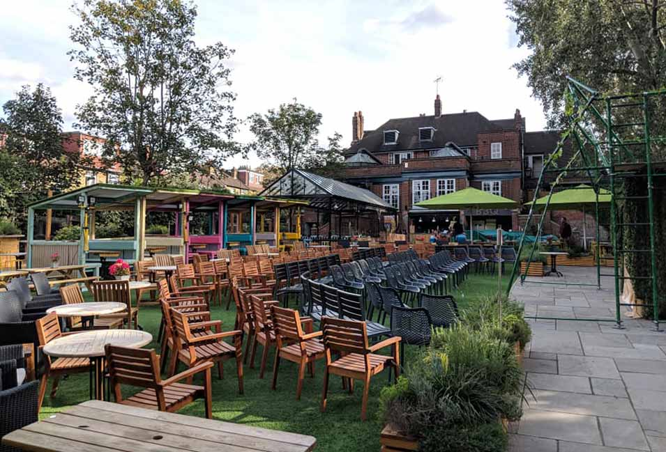Great outdoor seating at The Duke of Kent, Ealing.