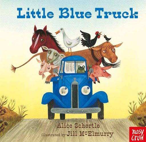 Little Blue Truck by Alice Schertle book cover.
