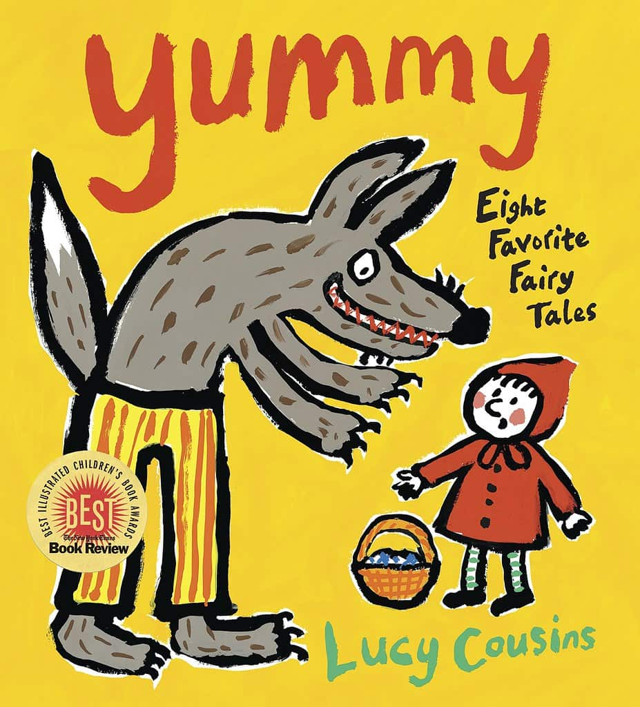 Yummy! My Favourite Nursery Stories by Lucy Cousins book cover.