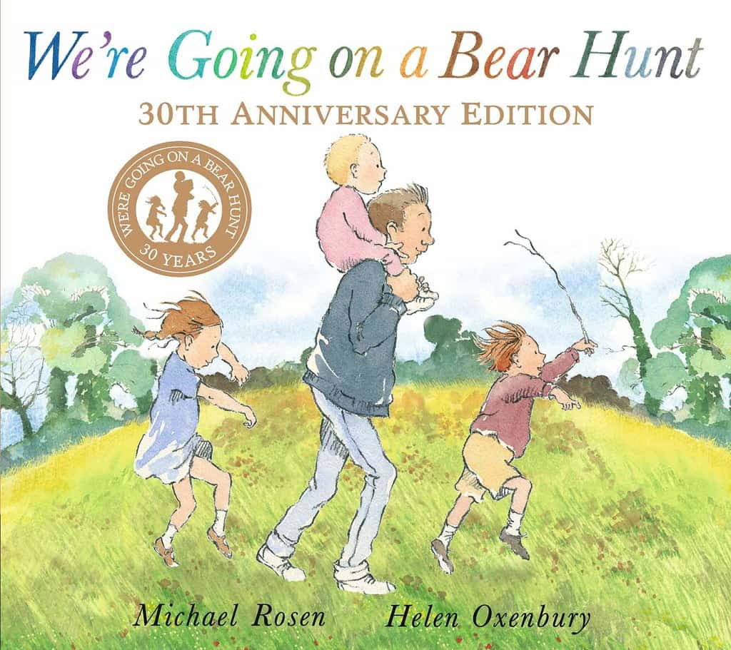 We're Going On A Bear Hunt by Michael Rosen and Helen Oxenbury book cover.
