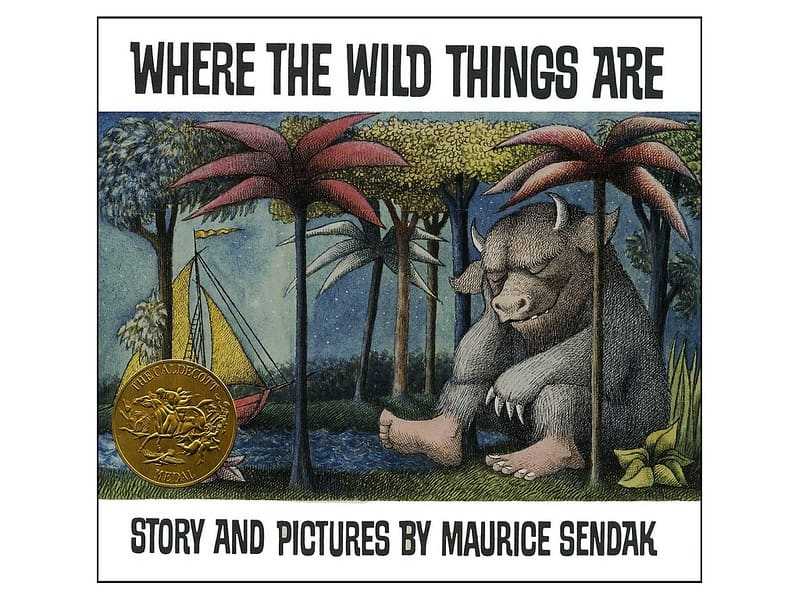 Where The Wild Things Are by Maurice Sendak book cover.