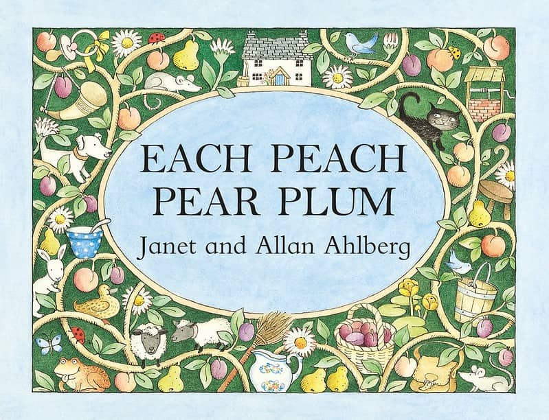 Each Peach Pear Plum by Janet and Allan Ahlberg book cover.