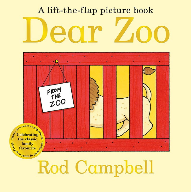 Dear Zoo: A Lift-The-Flap Book by Rod Campbell book cover.