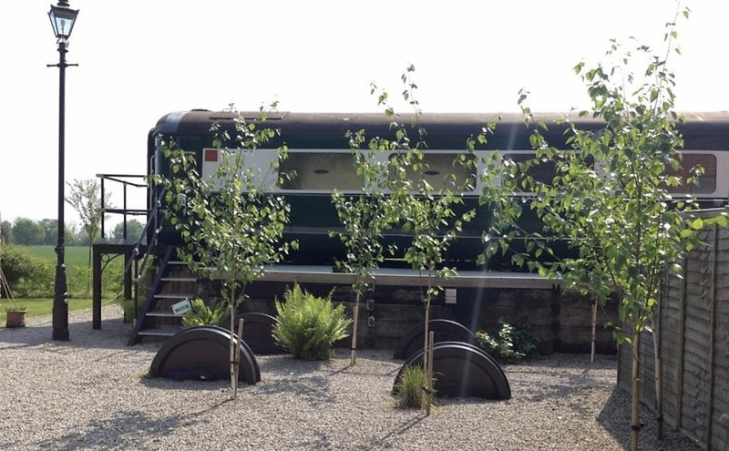 Stay in a refurbished train carriage in Skipwith Station.