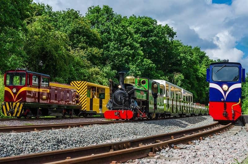 Historic trains at Ruislip Lido Railway.