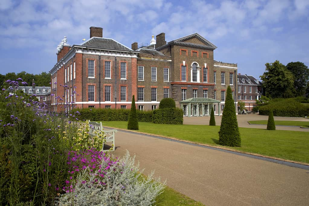 Kensington Palace on a sunny day.