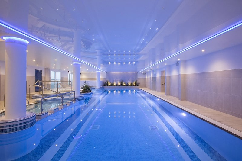 The indoor pool at St Michael's Resort, Falmouth.