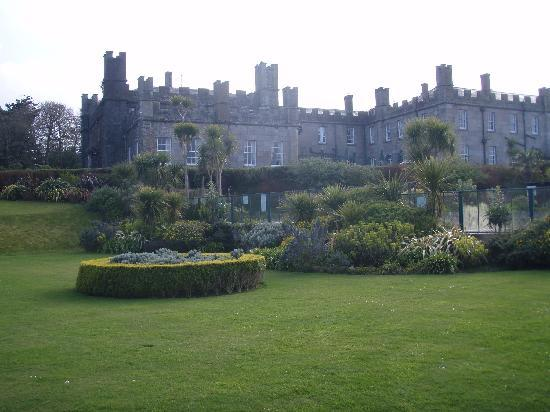 Beautiful gardens behind the castle at Tregenna Castle Resort.