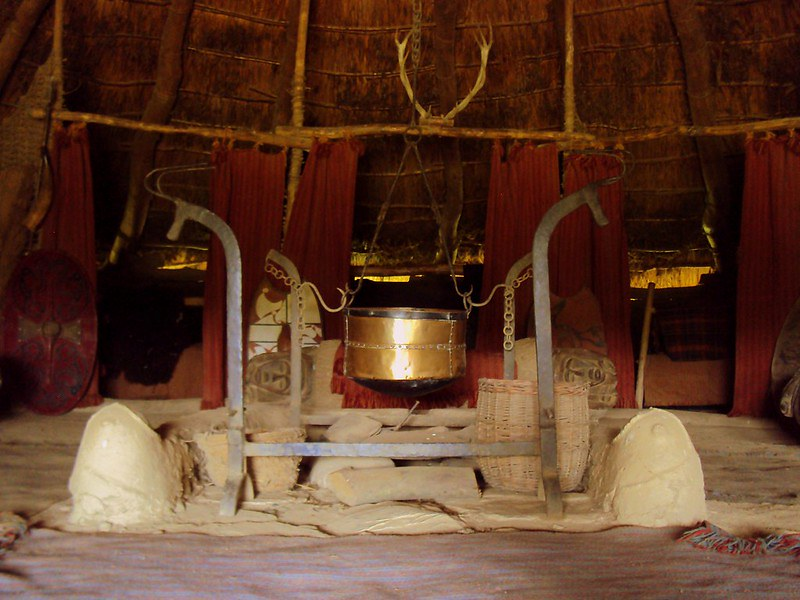 Inside view of A Celtic Roundhouse.