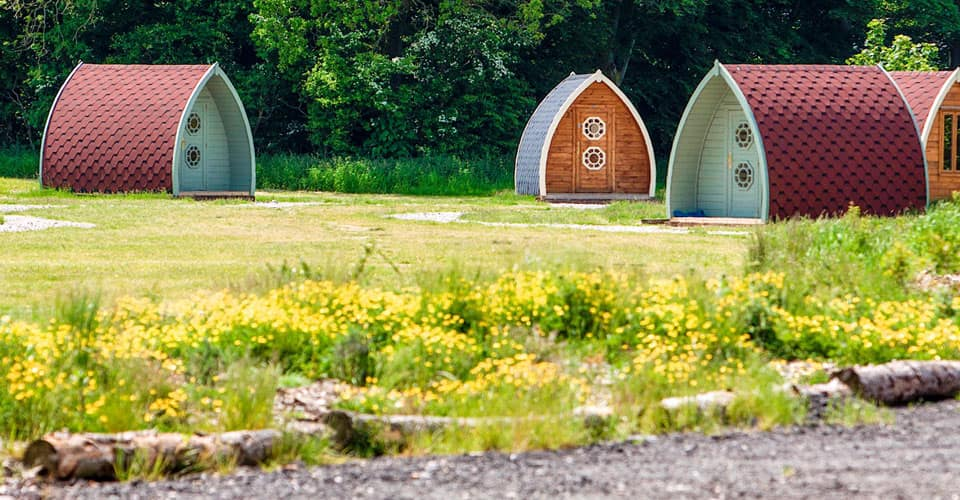 Unique glamping pods at Ream Hills Holiday Park, Blackpool.