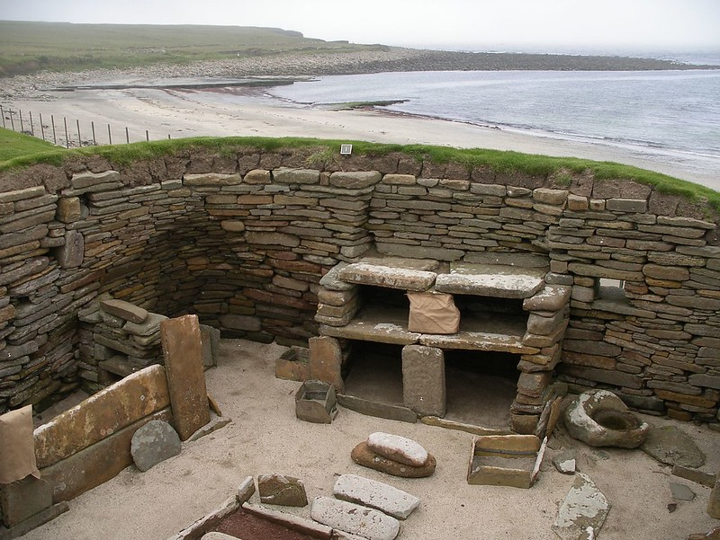 An image of tools and materials at Skara Brae, Scotland.