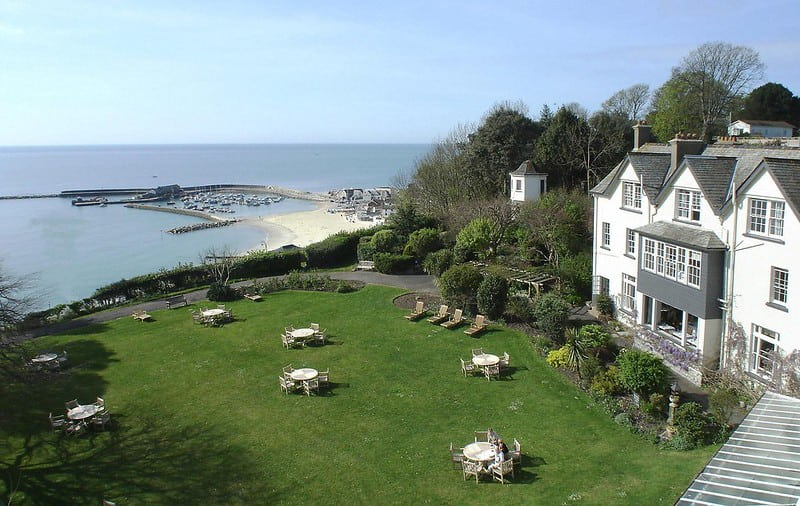 The Alexandra Hotel located right on the sea edge in Dorset.