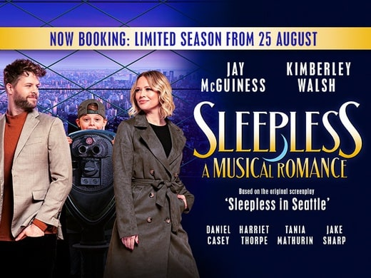 Sleepless the Musical promotional poster.