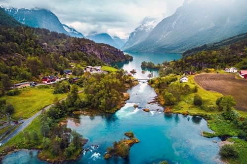 Beautiful Norwegian mountain landscape.