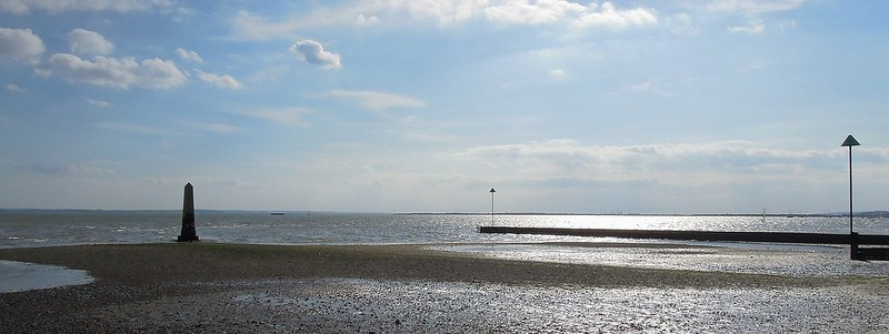 View of Chalkwell beach.