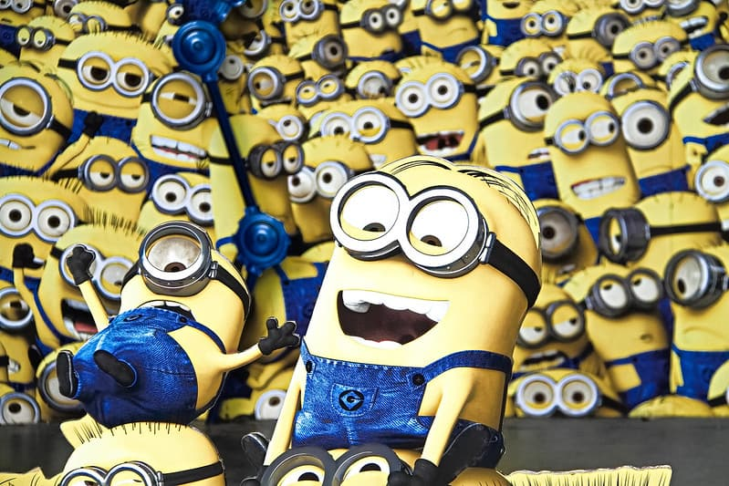 Lots of minions laughing and happy.