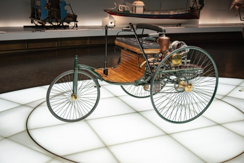 The first Benz motorcar with three wheels.