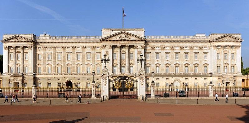 Buckingham Palace on a London tour.