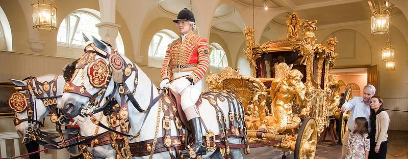 The Gold State Coach at the Royal Mews.