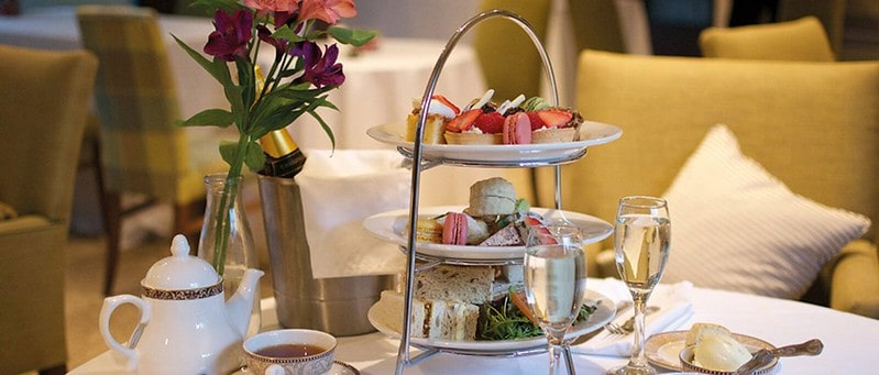 Delicious sandwiches and cakes and patisserie for afternoon tea.
