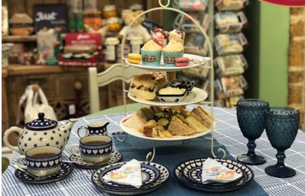 Unique crockery and delicious treats for afternoon tea at The Apothocoffee Shop.