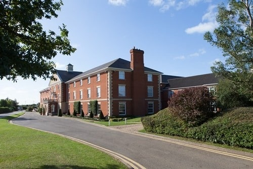 Grand front facade of Whittlebury Park.