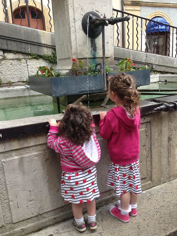 Girls looking at sights after hopping off the Original Tour's London Bus Tours.