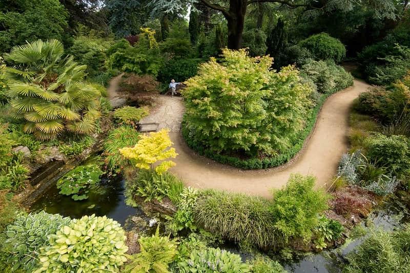 The stunning gardens at Blenheim Palace.