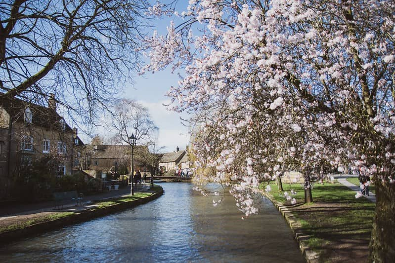 Bourton-on-the-Water in the Cotswolds, Oxfordshire.