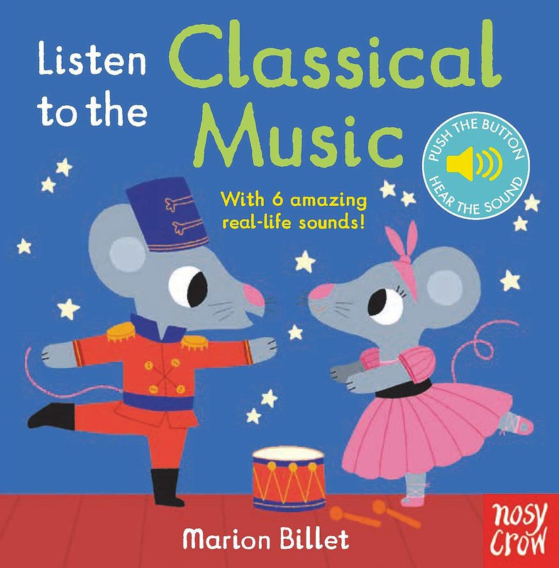 Cover of Listen To The Music: two mice in costumes are facing each other, both in ballet positions.