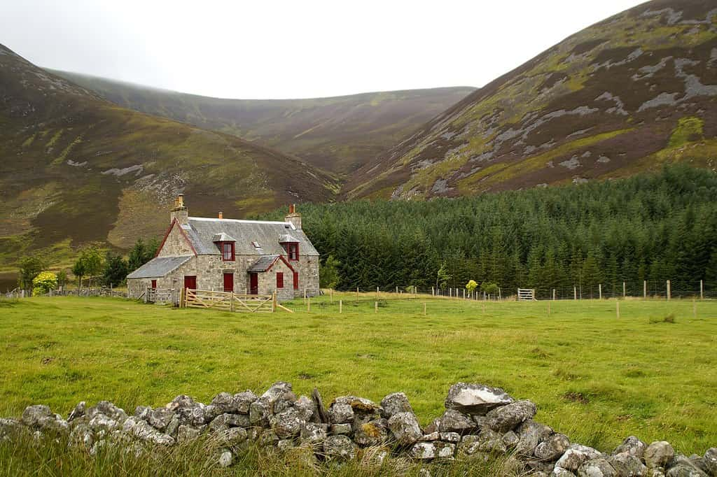 Cottage in the Scottish countryside.