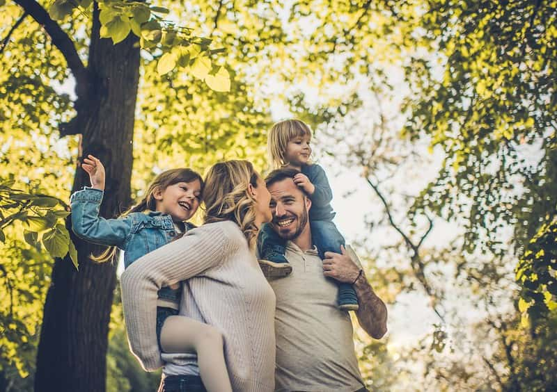 Family enjoying a day out in nature at Wepre Park.