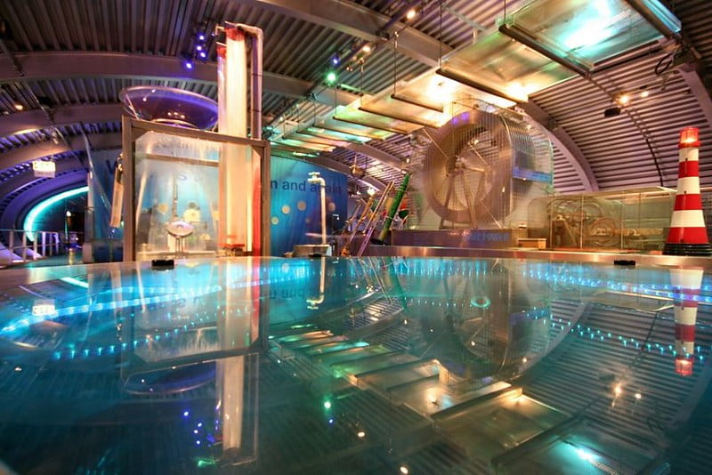 The Water pavilion at Magna Science Adventure.