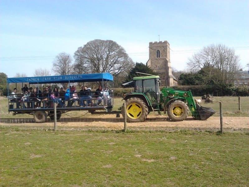 Tractor rides at Church Farm.