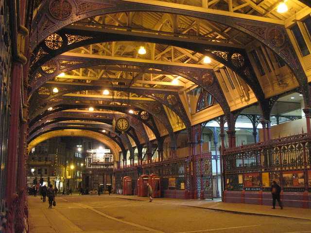 Smithfield Market at night, where you will hear the ghosts.