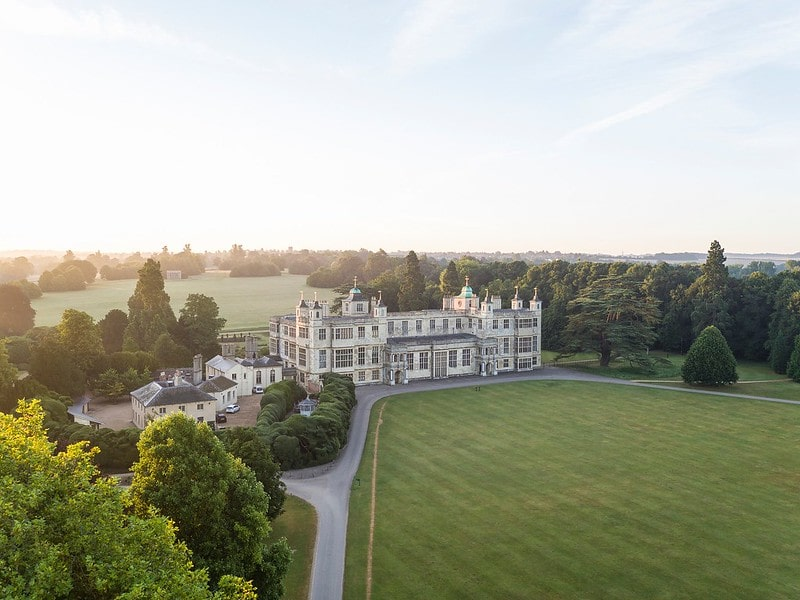 An aerial view of Audley End House And Gardens