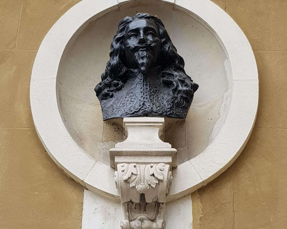 King Charles bust