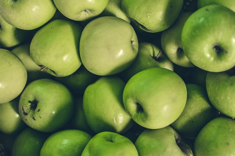 Lots of green apples.