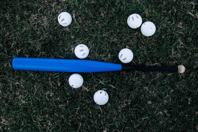 Baseball bat and balls.