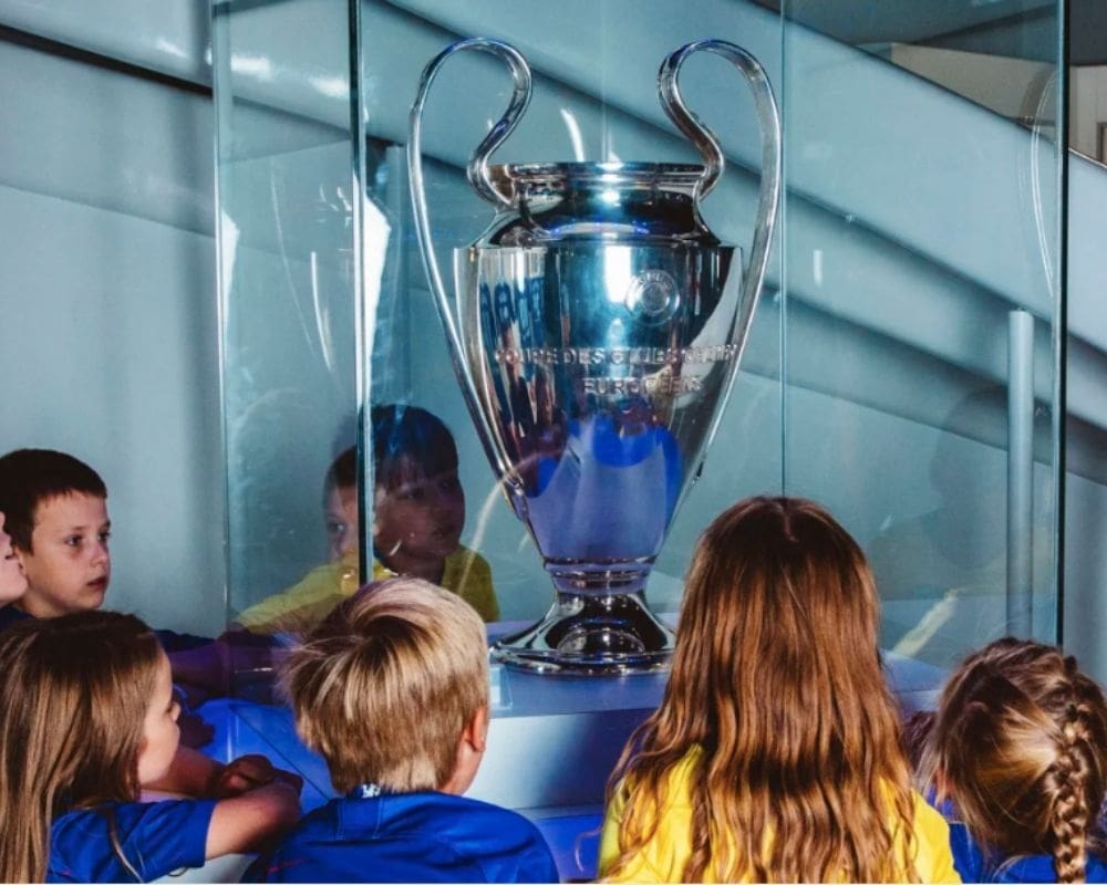 Kids exploring Chelsea FC Stadium and Museum