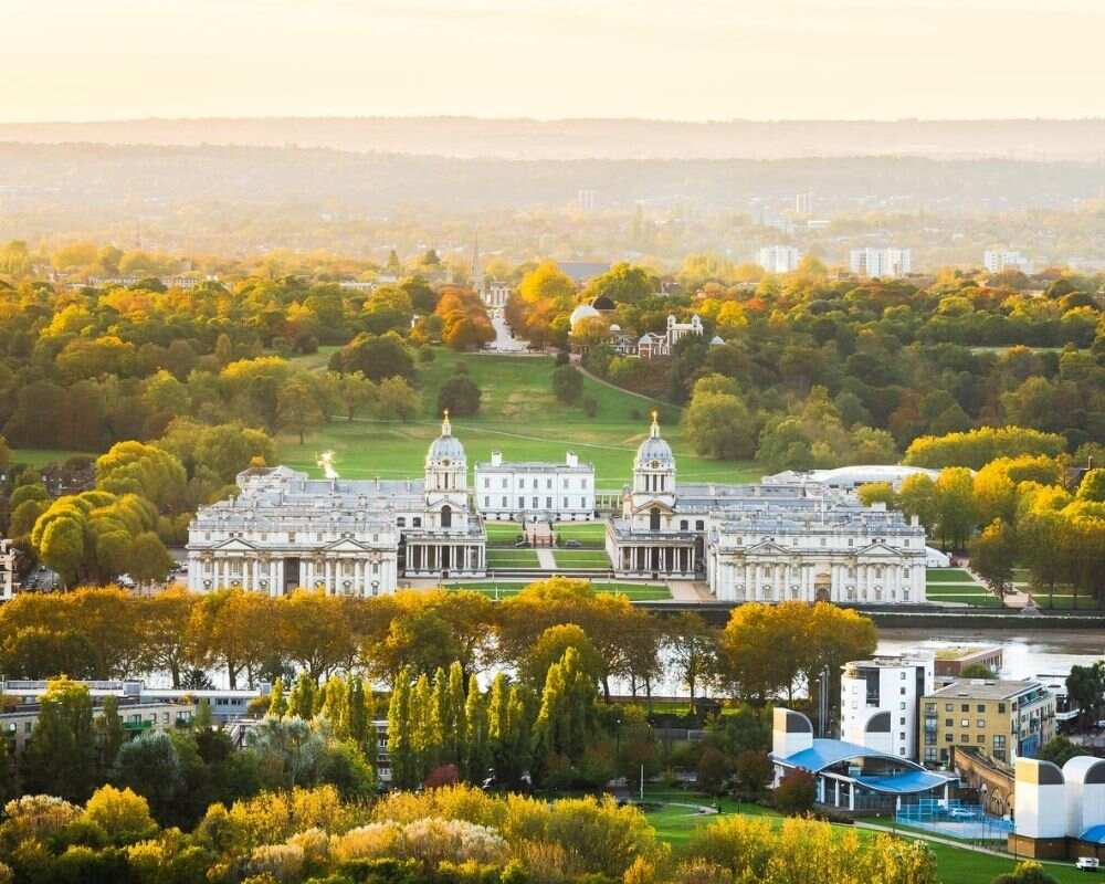 Greenwich from the air