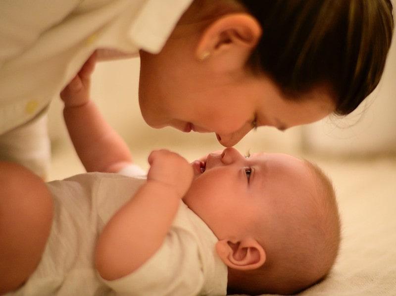 Mum and her newborn baby.