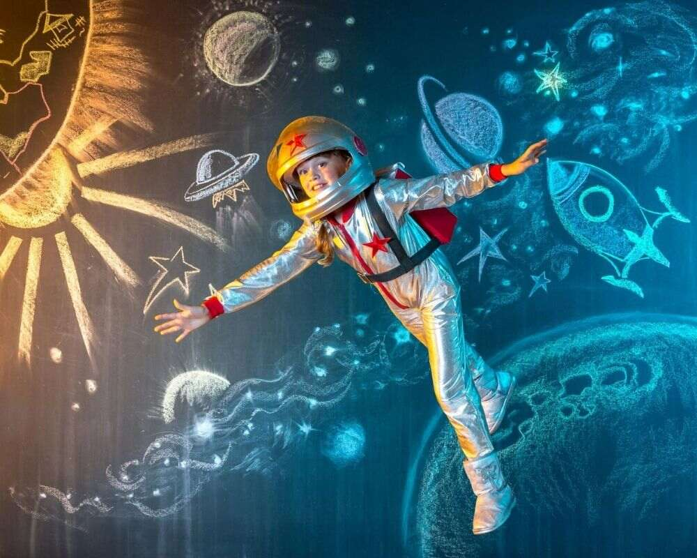 An astronaut in space.