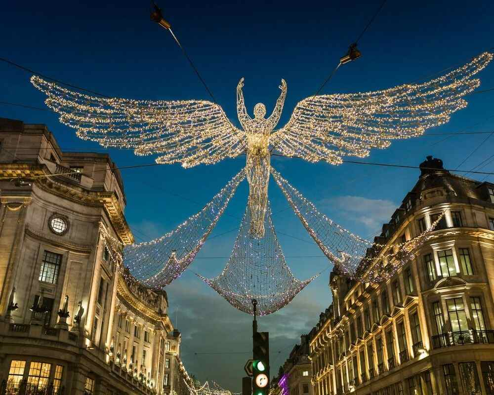 Christmas lights in Regent Street