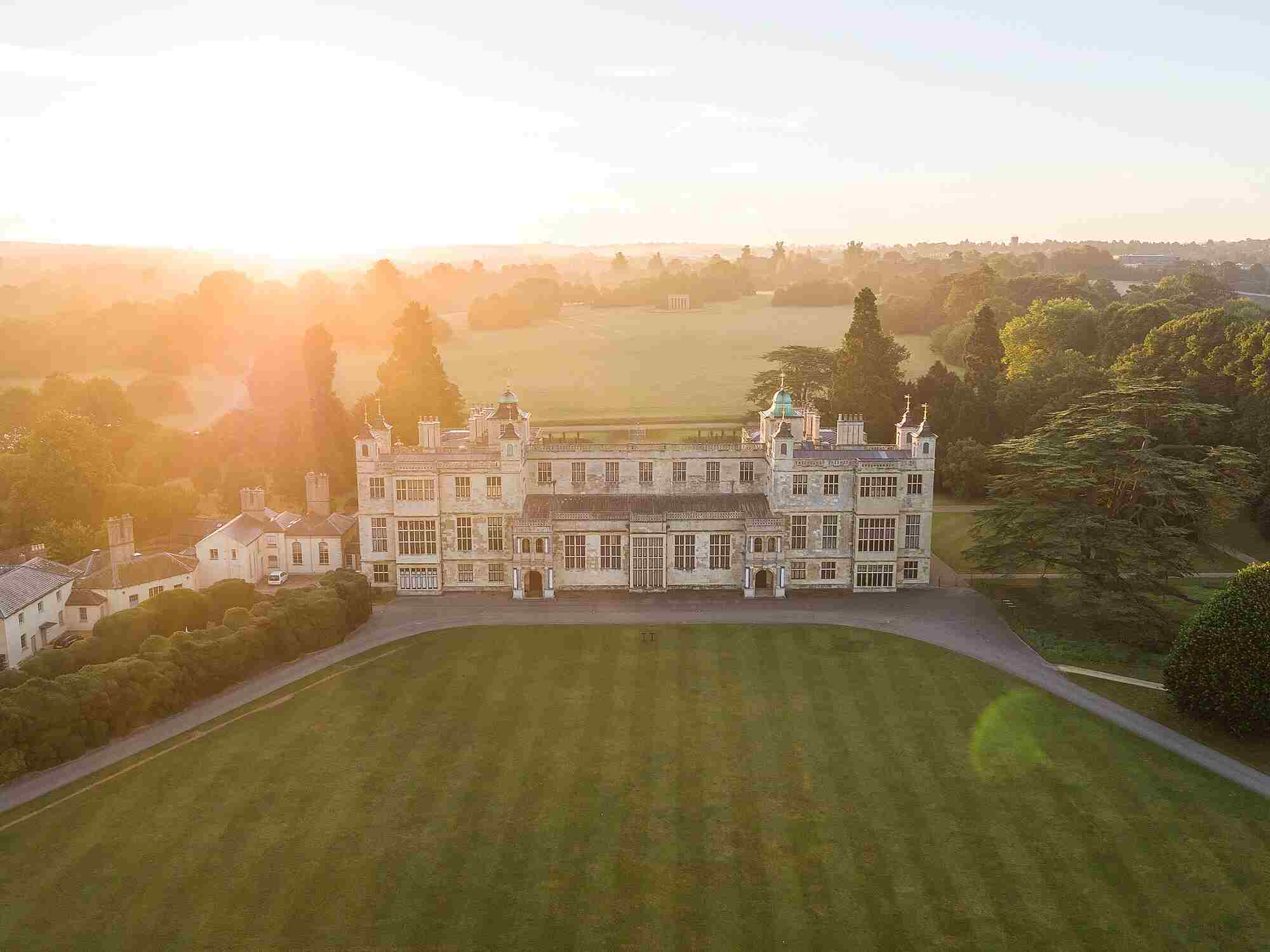 Audley End from the air
