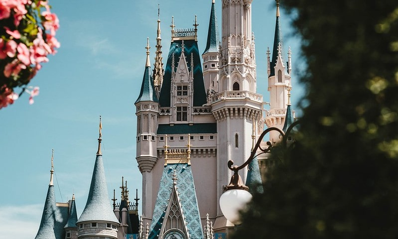 View of the magical Disney castle.