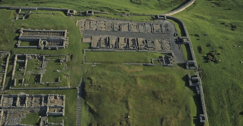 Hadrian's Wall in Northumberland.