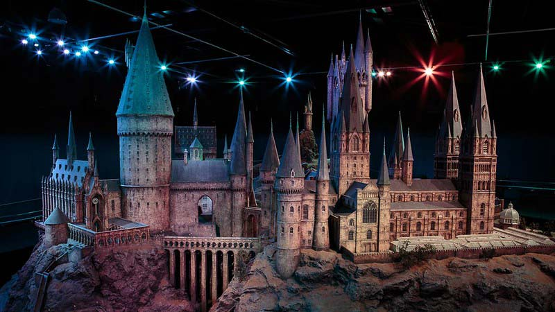 Model replica of Hogwarts castle found at the Harry Potter Studio Tour.